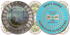 High relief 3D metal plus photographic printing together on a custom coin