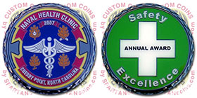 Naval Health Clinic Safety Award Challenge Coin