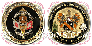 40th Expeditionary Signal Battalion custom army coin