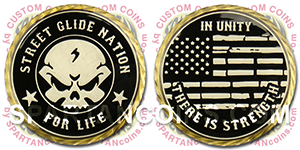 Motorcycle Club Custom Coin