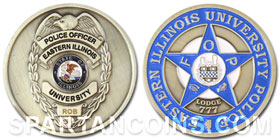Eastern Illinois University police challenge coin