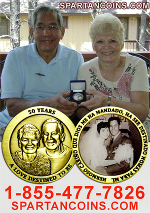 50th Wedding Anniversary Custom Coin