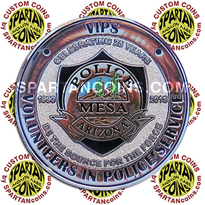 Mesa Arizona Volunteer Police Officer Recognition Award Coin