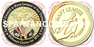 United States Navy League custom coin