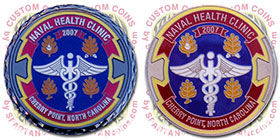 Naval Health Clinic Challenge Coins
