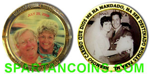 Photographic printing on a custom coin