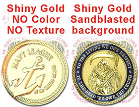 Shiny Gold plated coins at SpartanCoins.com
