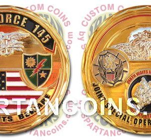 Task Force 145 military challenge coin